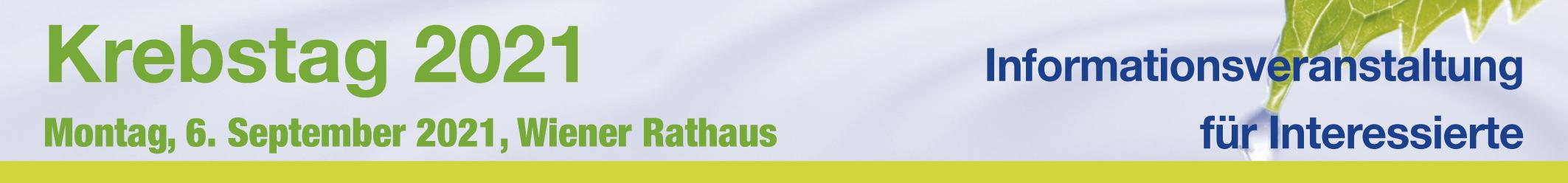 Wiener Krebstag 2021 - Informationsveranstaltung